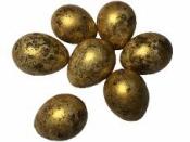 Prepeličie vajíčko pravé 3,5 cm - zlaté
