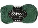 Priadza 100% bavlna - tmavá zelená