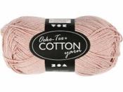 Priadza 100% bavlna - púdrová