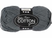 Priadza 100% bavlna - antracit