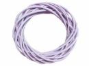 Prútený veniec 20cm - pastelový fialový