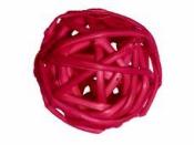 Ratanová gulička 4.5 cm - cyklaménová