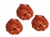 Ratanová gulička 3.5 cm - oranžová