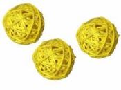 Ratanová gulička 3.5 cm - žltá