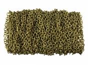 Bižutérna retiazka - okrúhla - antická zlatá - 4 x 4 x 0,8 mm