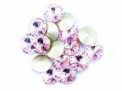 Sklenená rivoli korálka 12 mm - ružová