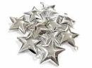 Rolnička hviezda 4 cm - strieborná lesklá