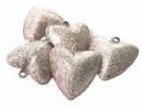 Rolnička  srdce 3 cm - medenozlatá