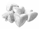 Rolnička  srdce 3 cm - strieborná