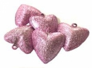 Rolnička  srdce 3 cm - ružová