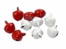 Rolničky červeno-biele 10ks