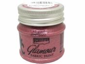 Metalická farba na textil Glamour 50 ml - ružovo-strieborná