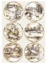 Ryžový papier A4 - zimné krajinky