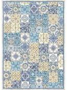 Ryžový papier A3 - Modrá mozaika
