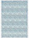 Ryžový papier A3 - modrý damašek