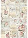 Ryžový papier A3 - Ruže a hudba