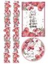 Ryžový papier A4 - červené kvety