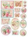 Ryžový papier A4 - štítky motýle