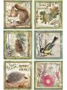 Ryžový papier A4 - lesné zvieratá
