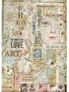 Ryžový papier A4 -  Love Art