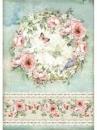 Ryžový papier A4 - kvetinový veniec