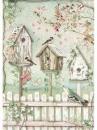 Ryžový papier A4 - vtáčie búdky