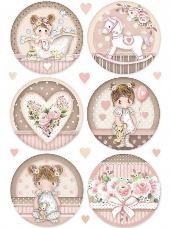 Ryžový papier A4 - baby girl