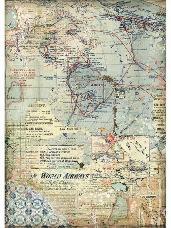 Ryžový papier A4 - mapa