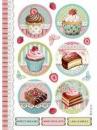 Ryžový papier A4 - Cupcake