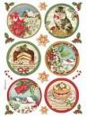Ryžový papier A4 - Červené Vianoce
