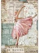 Ryžový papier A4 - Balerína