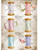 Ryžový papier A4 - Vintage šitie