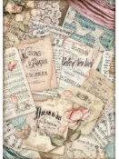 Ryžový papier A4 - Hudba a listy