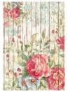 Ryžový papier A4 - vintage doska s ružou