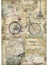 Ryžový papier A4 - bicykel