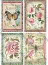 Ryžový papier A4 - Botanic Flower Cards