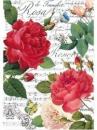 Ryžový papier A4 - červené ruže a hudba