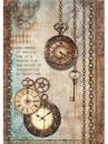 Ryžový papier A4 - vintage hodiny