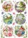 Ryžový papier A4 - jarné krajinky