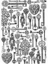 Ryžový papier A4 - kľúče