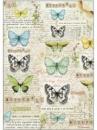 Ryžový papier A4 - motýle