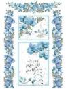 Ryžový papier A4 - modré kvety