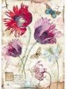 Ryžový papier A4 - vintage tulipány