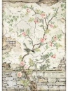Ryžový papier A4 -  Vtáčiky na plote