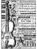 Ryžový papier A4 - hudba a husle