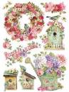 Ryžový papier A4 - Rose Garden
