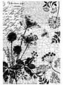 Ryžový papier A4 - text a divé kvety