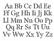 Šablóna 10x15cm - abeceda