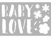 Šablóna 10 x 15 cm - Baby love