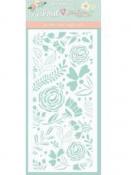 Šablóna 12 x 25 cm - Kvetinová fantázia